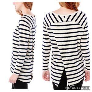 BB Dakota Carmenita Striped Cross Back Sweater